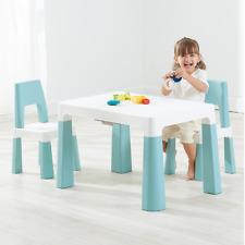 3 tlg. Kindersitzgruppe Kindermöbel mit 2 Stühlen Tisch Stauraum w/Schublade DHL