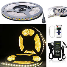 5m SMD 3528 Dimmbar LED Strip Streifen+ Fernbedienung+ Trafo Warmweiß 60 LEDs/m
