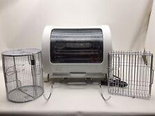 George Foreman Jr Rotisserie Oven Model GR82 White With Accessories  (bldg/ebmr)