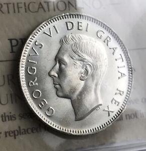 1950 Canada Quarter - ICCS MS64 - LOOK