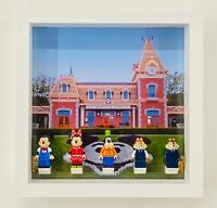 Display Case Frame for Lego Disney train station minifigures 71044 no figures