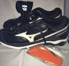 Mizuno Mens Size 11.5 Classic G6 9 Spike Wave Tech Metal Leather Baseball Cleats