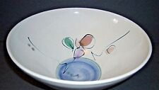 """Vintage (1987) Hand Thrown Mid Century Modern Pottery Art Bowl Signed 10""""D x 5""""H"""