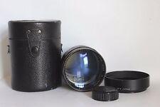 Ultra Raro Soligor 135 mm 1:1 .8 Lente de retrato muy rápido ajuste T2 M42 + Estuche/Campana