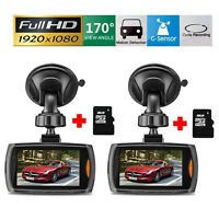 "2 x 2.7"" HD 1080P Car DVR Vehicle Camera Video Recorder Dash Cam Night Vision"