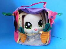 Littlest Pet Shop Plush White Bunny Rabbit with Carrier W/Tags
