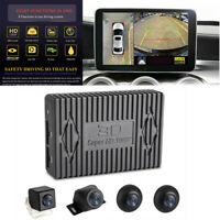 HD 1080P 4 Camera Night Vision Bird View Parking System ADAS Driving Record