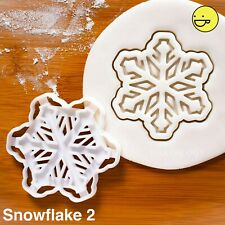 Snowflake cookie cutter (Style 2) | Christmas winter festive xmas biscuit frozen
