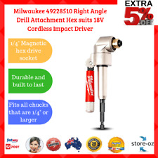 Milwaukee Right Angle Drill Attachment Hex suits 18V Cordless Impact Driver