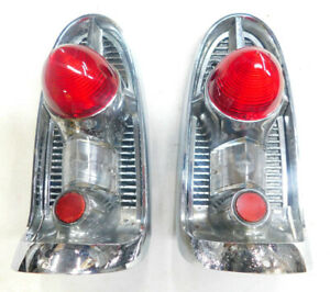 1956 chevy belair 210 150 tail light assemblies right & left #2  reconditioned