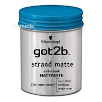 Schwarzkopf got2b STRANDMATTE Matt Paste Beach Matte 100 ml Surfer Look for men
