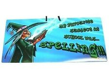 Humorous Witch PVC Hanging Sign Magic/Spells