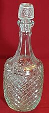 Beautiful Vintage Pressed Glass Decanter