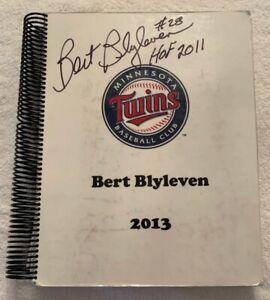 2013 Bert Blyleven Scorebook Broadcast Used Minnesota Twins