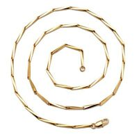 "Men's/Women's Necklace Chain 24k Yellow Gold Filled 24"" Link Fashion Jewelry"