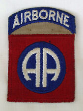 1 Piece 82nd Airborne Patch on brown backing - RARE VARIATION