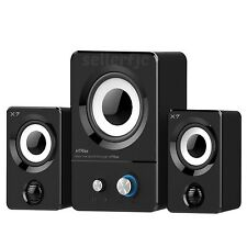 Multimedia Speaker System Computer PC Desktop Laptop Speakers 2.1 Bass Subw