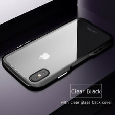 For iPhone XS Max XR Luphie Blade Hybrid Aluminum Metal Bumper Glass Case Cover