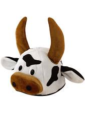 Black & White Bull Vaca Animal Elaborado Vestido sombrero con cuernos ciervo noche Novedad Nuevo