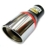 Boloromo 0038 Tubo de escape doble de acero inoxidable cromado universal