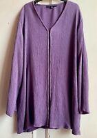 Lovely Lilac 100% Silk Beaded Jacket 18