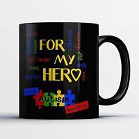 Awareness Coffee Mug - Autism Awareness - Adorable 11 oz Black Ceramic Tea Cup -