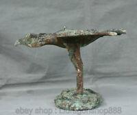 """12 """" Vieux  De Statue  Bête D'Oiseau En Bronze Chinois Bronze Ware  Sculpture"""