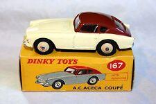Dinky 167 AC ACECA exceptionnel en bonne boîte d'origine
