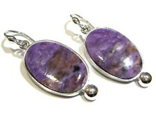 orecchini charoite viola charoite earrings