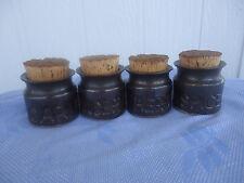 4 vintage retro florenz diana australian pottery spice canister set