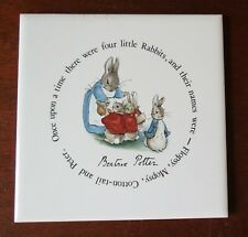 Wedgwood Peter Rabbit 6� Square Tea Tile Trivet Beatrix Potter England