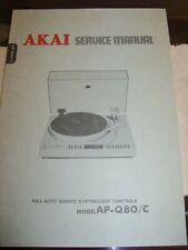 ORIGINAL AKAI SERVICE MANUAL AP-Q80/C  NICE!