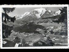 MEGEVE (74) MONT-BLANC , CHALET DE LA VIEILLE & VILLAS en aérienne en été 1952
