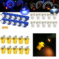 10x T5 B8.5D 5050 1SMD BLUE LED Bulbs Dashboard Cluster Gauge Side Light DC12V