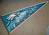 Autographed NFL PHILA EAGLES Vintage Football Pennant Signed by 5 EAGLES!