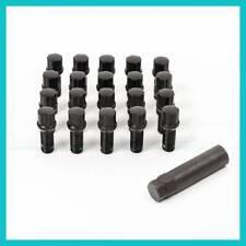 (20) 14x1.5 M14x1.5 26mm Shank Wheel Spline Lug Bolts Tuner Black Conical w/ Key