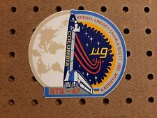 """1997 Space Shuttle Columbia STS-87 Sticker! 4 3/16"""" by 3 3/4"""". New Old Stock!"""