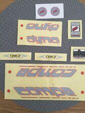 NOS GT DYNO COMPE DECALS BMX MIDSCHOOL ORIGINALS Cycle Design RARE