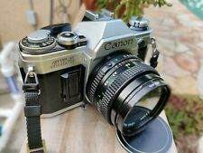 Canon AE-1 35mm SLR Film Camera with Canon FD 50mm Prime Lens
