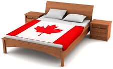 "Fuzzy Flags™ Canadian Flag Fleece Blanket 80"" x 50"" Oversized Throw Cover Canada"