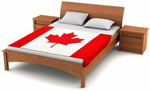 "Fuzzy Flags™ Canada Flag Fleece Blanket 80"" x 50"" Oversized Canadian Throw Cover"