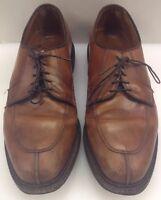 Allen Edmonds Casual Split Toe Oxfords Brown Rubber Soles Men's 8.5 E 1628