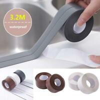 PVC Waterproof Mold Proof Adhesive 3.8m Tape Kitchen Bathroom Wall Sealing