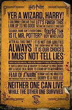 Harry Potter Quotes Poster Print Wall Art Large Maxi