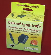 Steger Transformer with Distributor for Doll's House Lighting - 3,5V