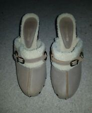 Women's designer Leather Fleece Mules by RUSSELL & BROMLEY size 6 (40)