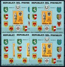 5x PARAGUAY 1976 Österreich Wappen Block 268 ** MNH KW €250