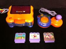 V-tech Vsmile Learning System Lot With 3 Games and 1 Controller Tested & Working
