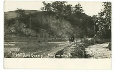 RPPC Stone Quarry at HUGHESVILLE PA Lycoming County Real Photo Postcard