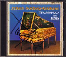 Trevor PINNOCK Signiert BACH Goldberg Variations Harpsichord ARCHIV CD Cembalo